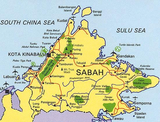 map of mt kinabalu